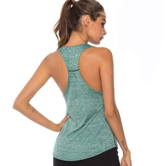 Gym accessories online tank top Green / L Fitness Yoga Sleeveless Tank Top