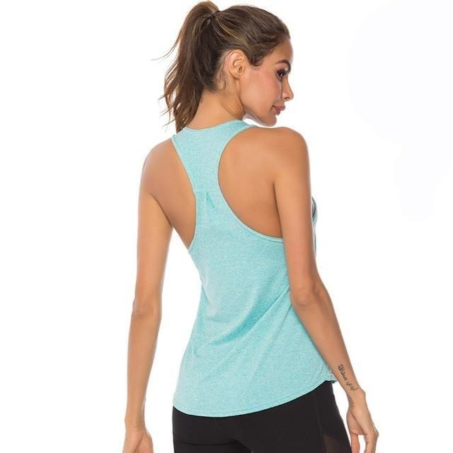 Gym accessories online tank top Blue / L Fitness Yoga Sleeveless Tank Top