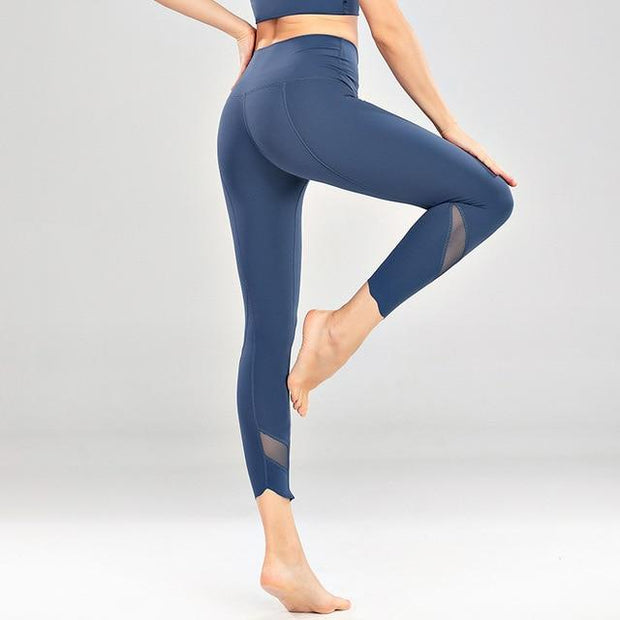 Gym Accessories Online Light blue / M High Waist Skinny Stretch Yoga Pants Capris
