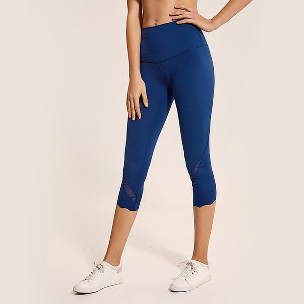Gym Accessories Online Blue / L High Waist Skinny Stretch Yoga Pants Capris