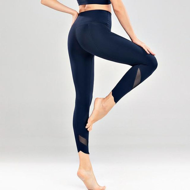 Gym Accessories Online Navy blue / S High Waist Skinny Stretch Yoga Pants Capris