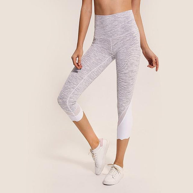 Gym Accessories Online Alpine White / XXS High Waist Skinny Stretch Yoga Pants Capris