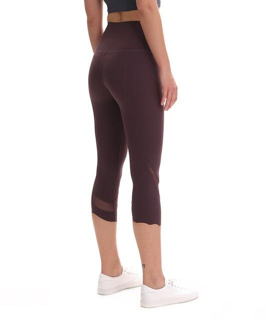 Gym Accessories Online Vintage grape / M High Waist Skinny Stretch Yoga Pants Capris