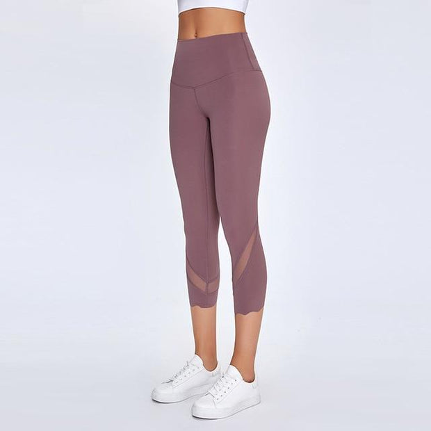 Gym Accessories Online Feather Ash / L High Waist Skinny Stretch Yoga Pants Capris
