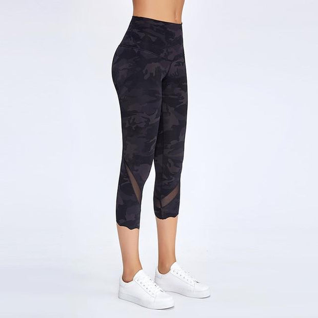 Gym Accessories Online Camo / L High Waist Skinny Stretch Yoga Pants Capris
