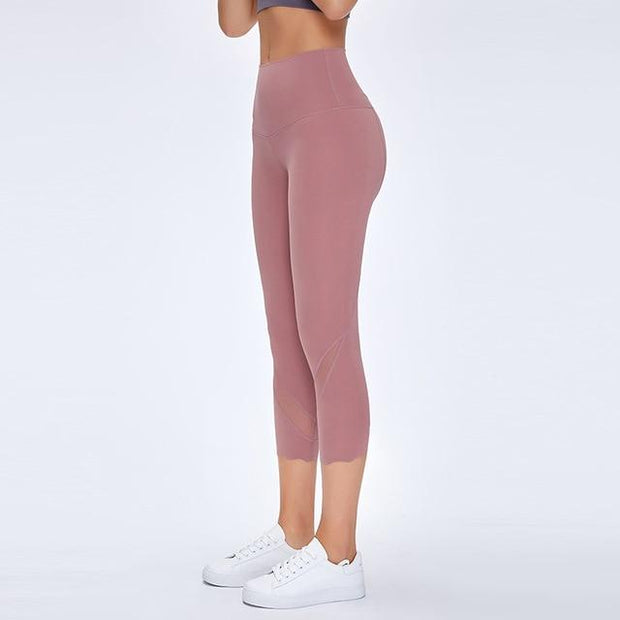 Gym Accessories Online Meili Powder / L High Waist Skinny Stretch Yoga Pants Capris