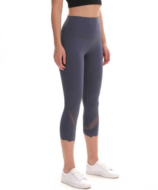 Gym Accessories Online Mach blue / M High Waist Skinny Stretch Yoga Pants Capris