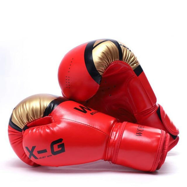 Gym accessories online Red / 10 OZ Kick Boxing MMA Gloves for Men Women