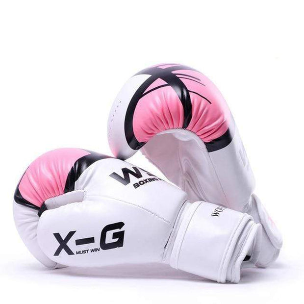 Gym accessories online Pink / 12 OZ Kick Boxing MMA Gloves for Men Women