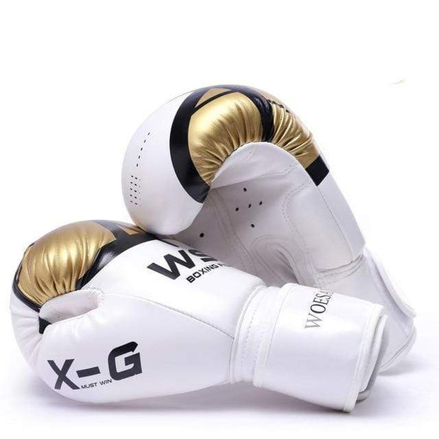 Gym accessories online Gold / 10 OZ Kick Boxing MMA Gloves for Men Women
