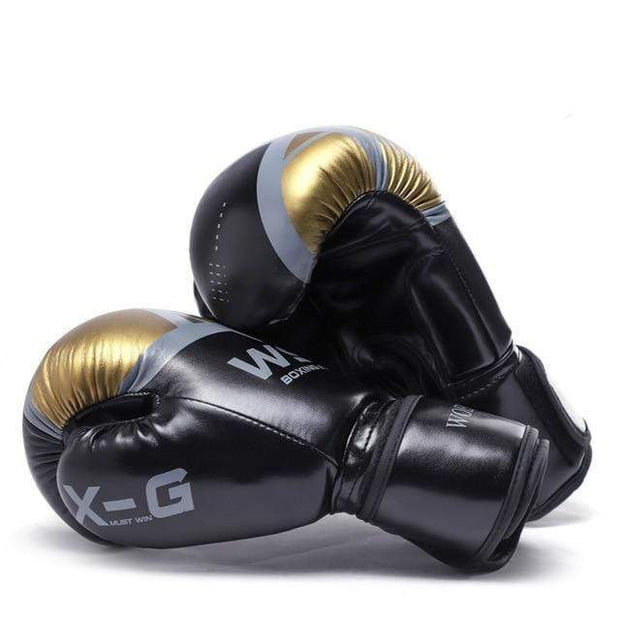 Gym accessories online Black / 12 OZ Kick Boxing MMA Gloves for Men Women