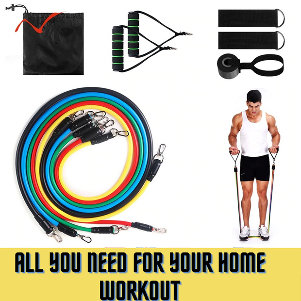 Gym Accessories Online Latex Resistance Bands for Home Workouts, Crossfit  and Stretching