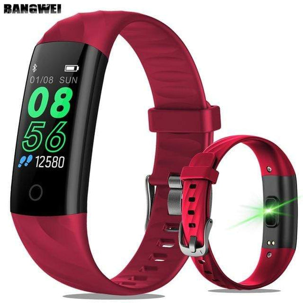 Gym Accessories Online red Lige Smartwatch Fitness Tracker with Heart Rate Sensor