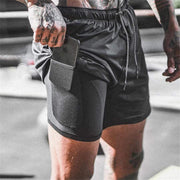 Gym accessories online Men Shorts Men's 2 in 1 Running Shorts+Phone Pocket Case