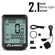 Gym accessories online Cycling White Light-Wired MTB Waterproof  Computer with Speedometer Wireless & Wired