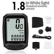 Gym accessories online Cycling 1.8 White-Wireless MTB Waterproof  Computer with Speedometer Wireless & Wired