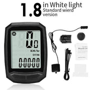 Gym accessories online Cycling 1.8 White-Wired MTB Waterproof  Computer with Speedometer Wireless & Wired