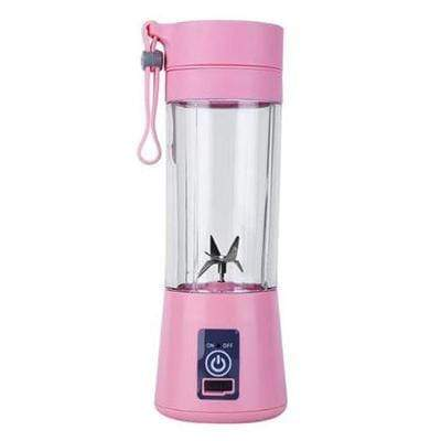 Gym accessories online Gym equipment Pink / 4 blades Portable Smoothie Blender with USB charging option for Outdoor use