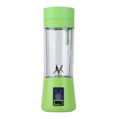 Gym accessories online Gym equipment Green / 4 blades Portable Smoothie Blender with USB charging option for Outdoor use