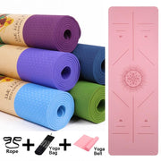 Gym Accessories Online Position Line Non Slip Mat Yoga