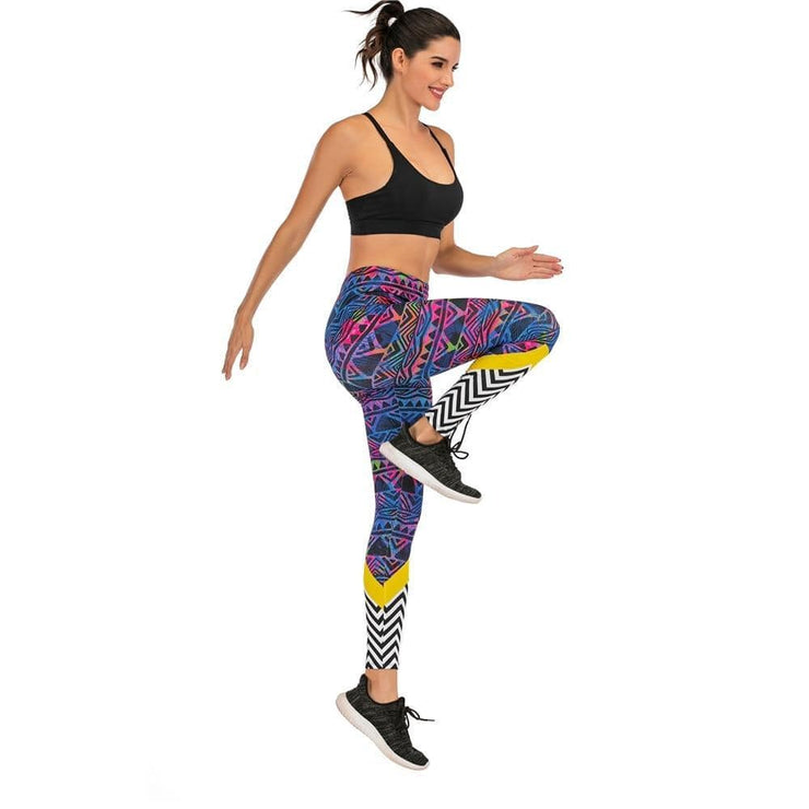 Gym accessories online Leggings Printed Yoga & Fitness Leggings