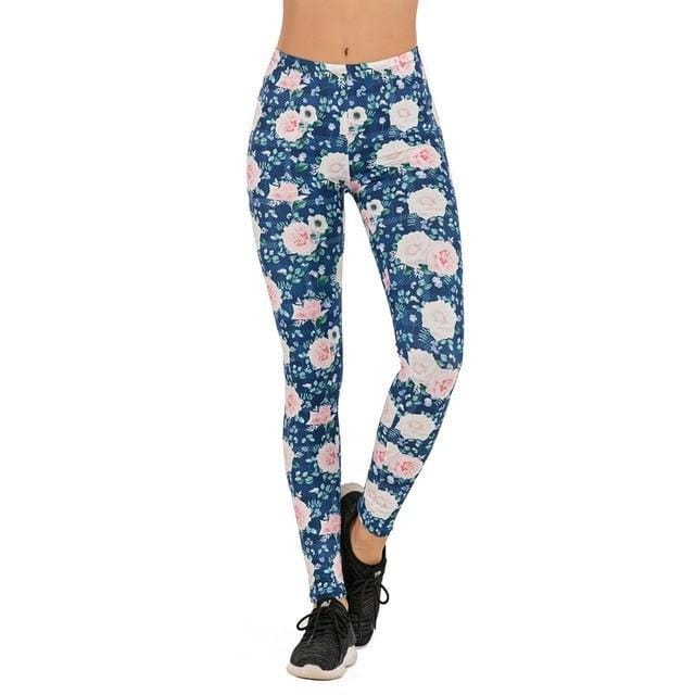 Gym accessories online Leggings lga700860 / One Size Printed Yoga & Fitness Leggings
