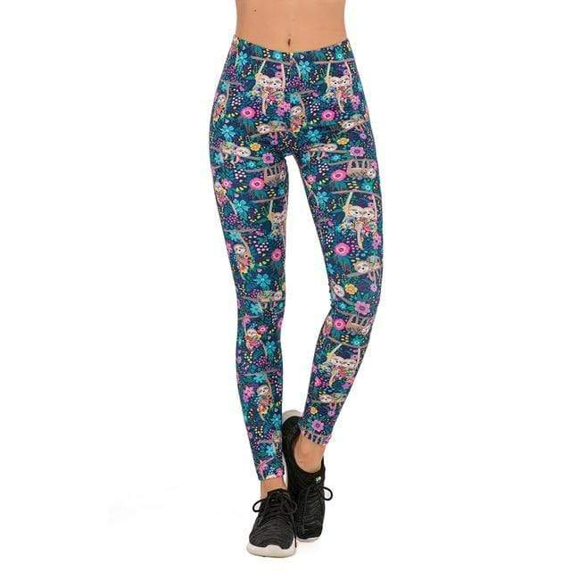 Gym accessories online Leggings lga701034 / One Size Printed Yoga & Fitness Leggings