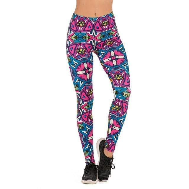 Gym accessories online Leggings lga601719 / One Size Printed Yoga & Fitness Leggings