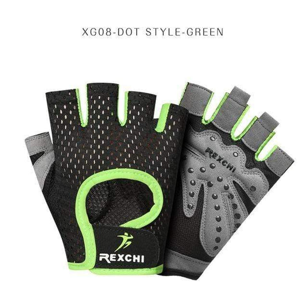 Gym accessories online Gloves XG08 Dot Green / S Professional Gym Gloves Weight Lifting Women