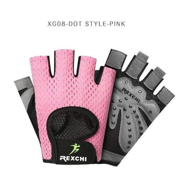 Gym accessories online Gloves XG08 Dot Pink / S Professional Gym Gloves Weight Lifting Women