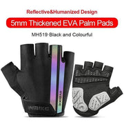 Gym accessories online gloves Black-Colorful / XXL Shockproof GEL Pad Half Finger Cycling Gloves