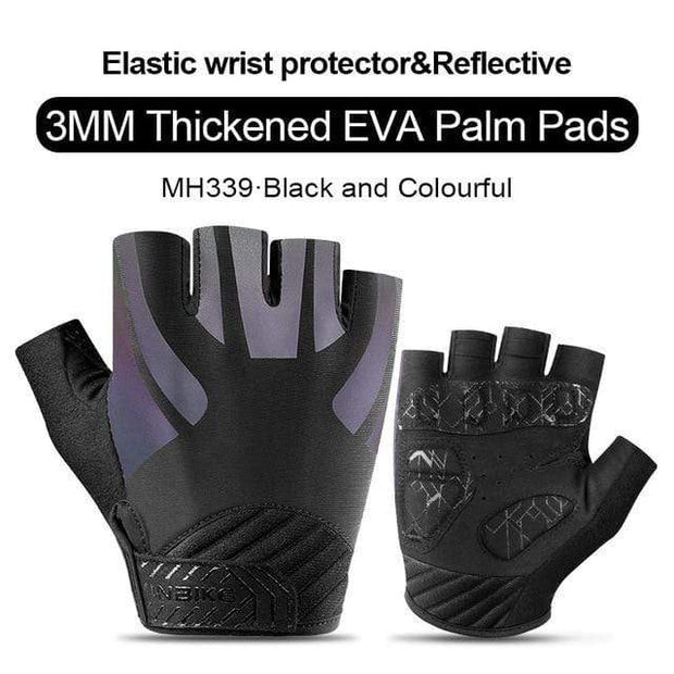 Gym accessories online gloves Black-Grafit / L Shockproof GEL Pad Half Finger Cycling Gloves