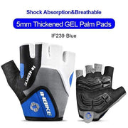 Gym accessories online gloves Blue / L Shockproof GEL Pad Half Finger Cycling Gloves