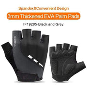 Gym accessories online gloves Black-Grey / XXL Shockproof GEL Pad Half Finger Cycling Gloves