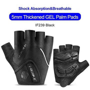 Gym accessories online gloves Grafit / L Shockproof GEL Pad Half Finger Cycling Gloves