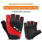 Gym accessories online gloves Black-Red / L Shockproof GEL Pad Half Finger Cycling Gloves