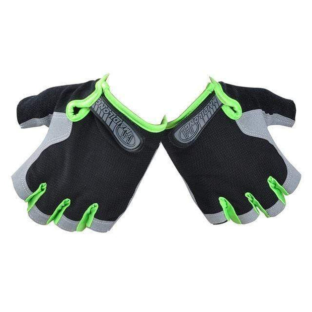 Gym accessories online Cycling Green / XL Silicone Cycling Anti-slip Half Finger Breathable Gloves