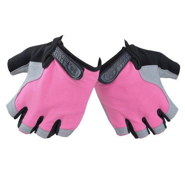 Gym accessories online Cycling Pink / XL Silicone Cycling Anti-slip Half Finger Breathable Gloves