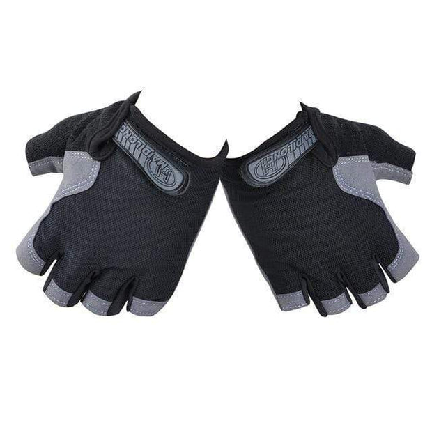 Gym accessories online Cycling Black / S Silicone Cycling Anti-slip Half Finger Breathable Gloves