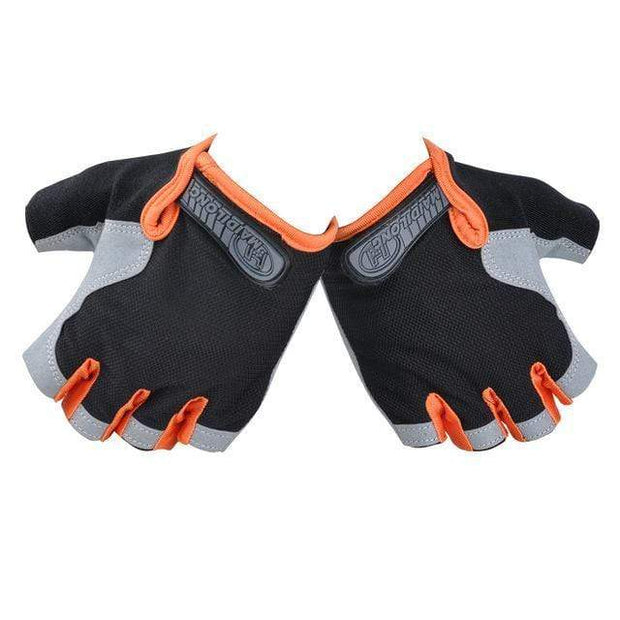 Gym accessories online Cycling Orange / S Silicone Cycling Anti-slip Half Finger Breathable Gloves