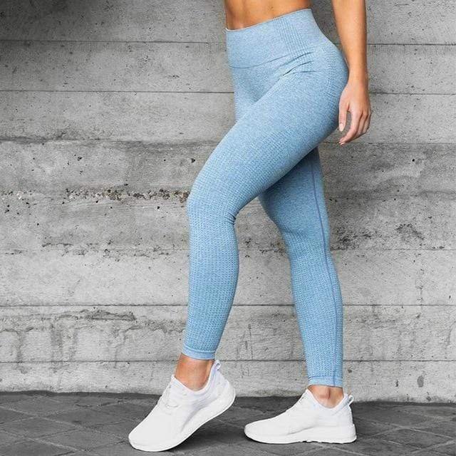 Gym accessories online Leggings teal marl / M Stretch High Waist  Fitness & Yoga Leggings