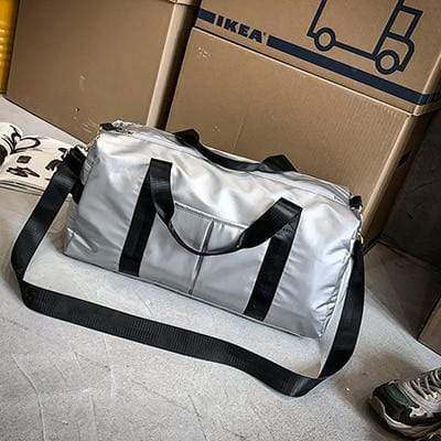 Gym accessories online bag PU silver Training Separated Waterproof Yoga/Gym Bag