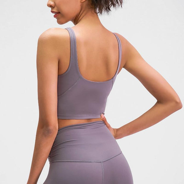 Gym Accessories Online U-Back Skin Soft Workout Gym Yoga Top
