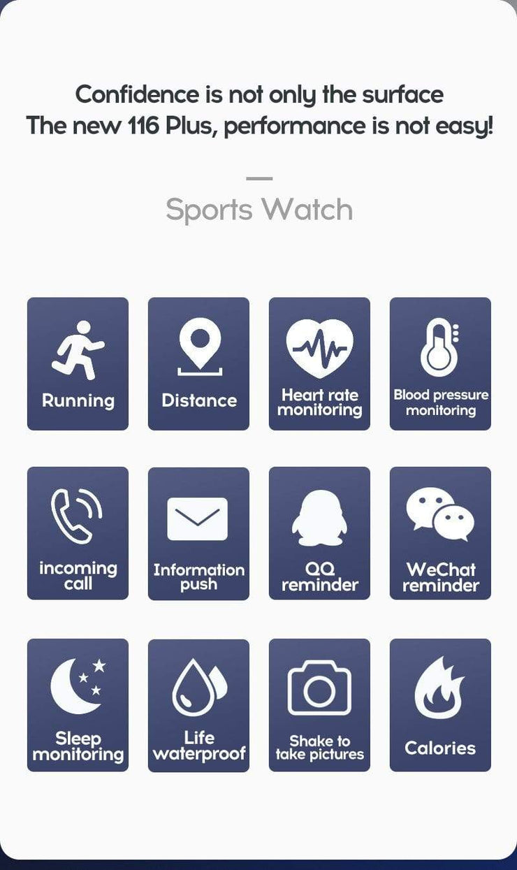 Gym accessories online smart watch Waterproof  Android Smart Watches with  Heart Rate Function