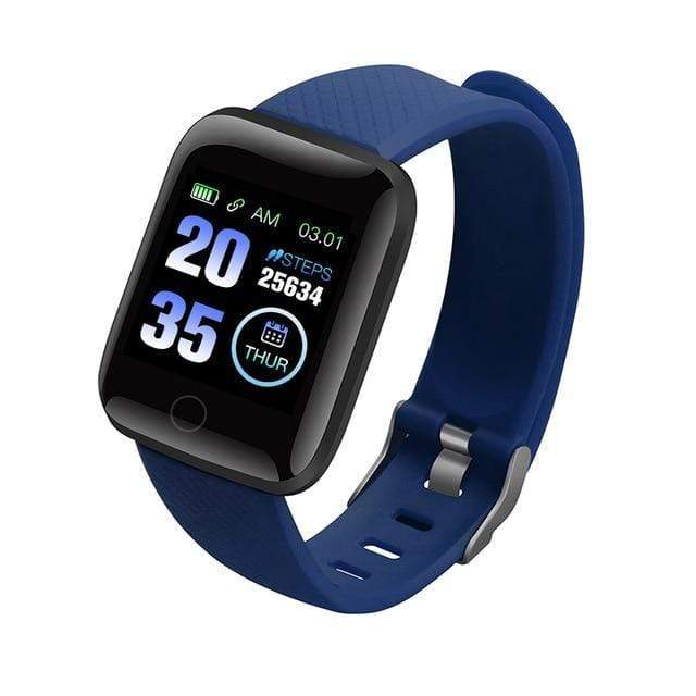 Gym accessories online smart watch Blue Waterproof  Android Smart Watches with  Heart Rate Function