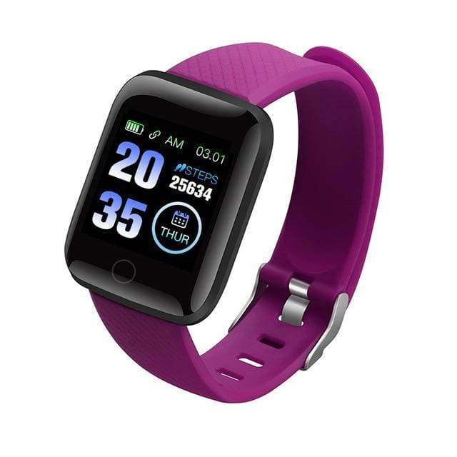 Gym accessories online smart watch Purple Waterproof  Android Smart Watches with  Heart Rate Function