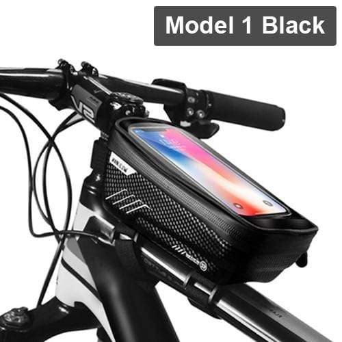 Gym Accessories Online Model 1 Black Waterproof Bicycle Bag