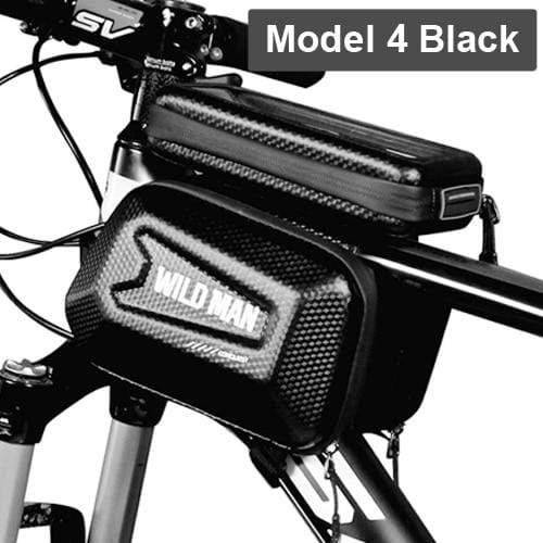 Gym Accessories Online Model 4 Black Waterproof Bicycle Bag