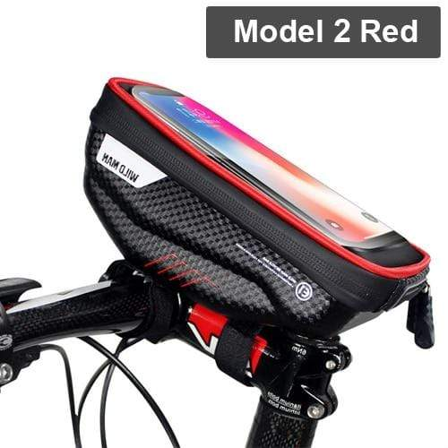 Gym Accessories Online Model 2 Red Waterproof Bicycle Bag