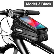 Gym Accessories Online Model 3 Black Waterproof Bicycle Bag